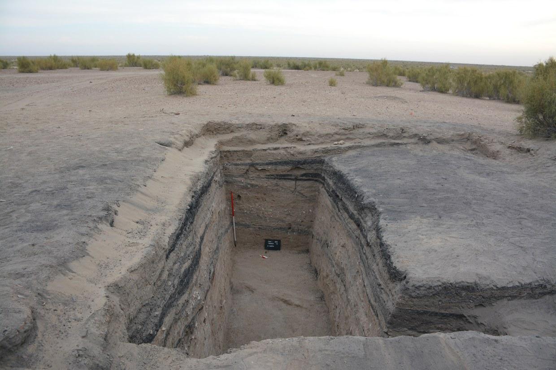 Fotografia dello scavo archeologico al termine della Missione 2015