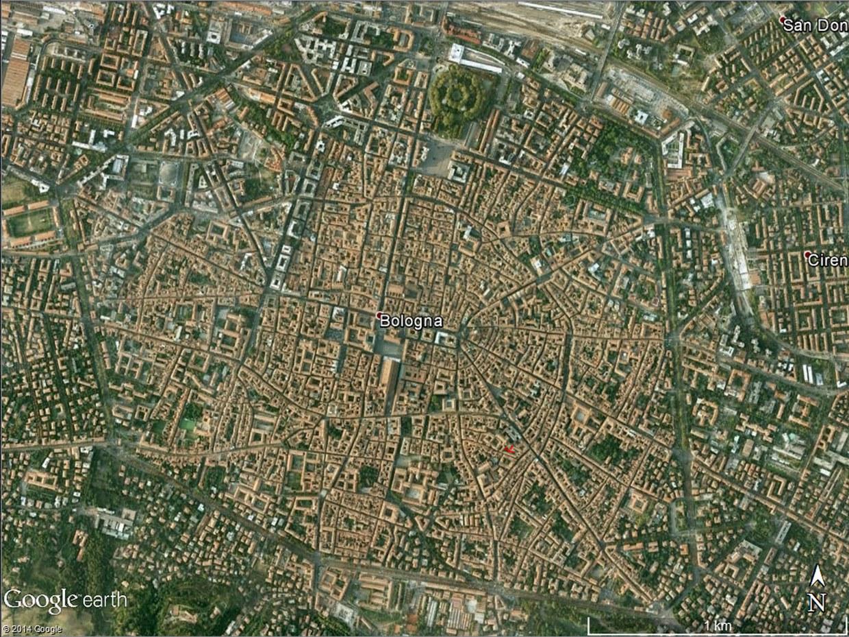 Mappa ricavata da Google Earth nel 2014 con l'indicazione dell'area dove si sono svolti gli scavi archeologici degli anni 1999 e 2000