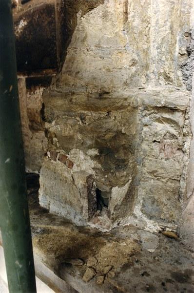 Fotografia di un particolare del cantiere di restauro