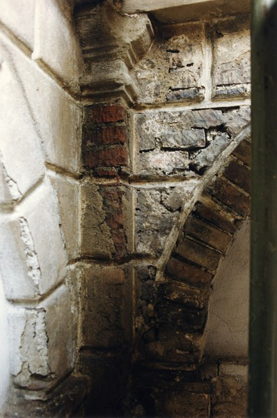 Fotografia di un particolare architettonico del cantiere di restauro