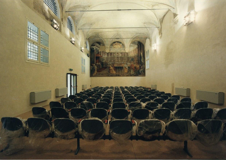 Fotografia dell'Aula Prodi appena allestita